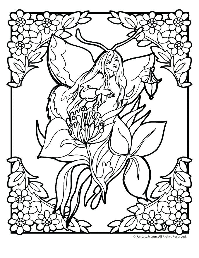 680x880 Garden Fairies Coloring Pages Flower Fairy Coloring Page Fairy
