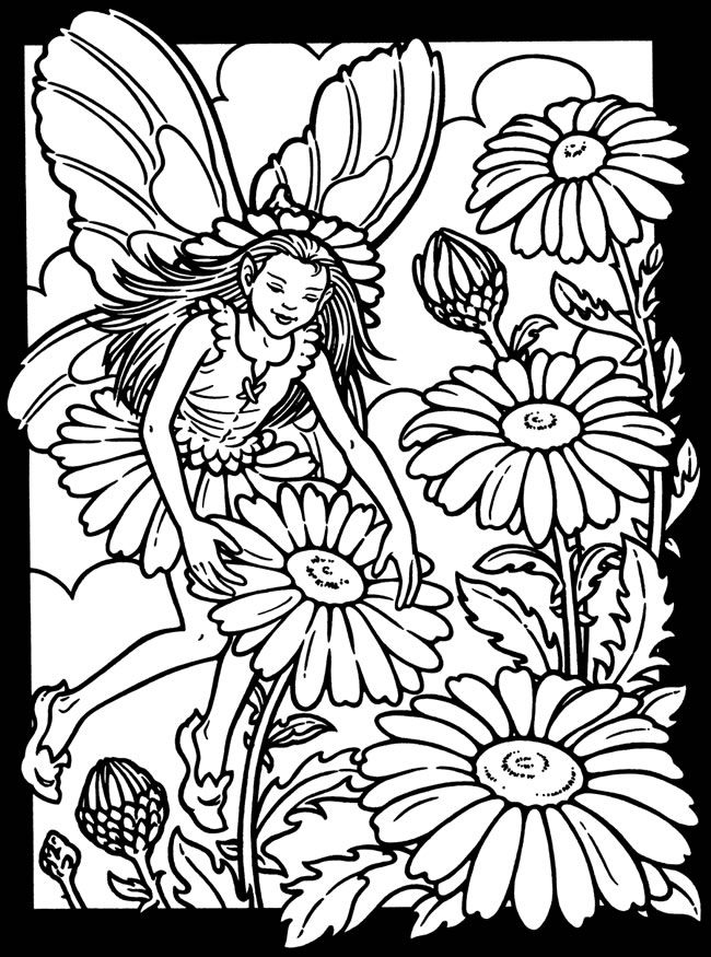 650x875 Garden Fairies Stained Glass Coloring Book Dover Publications