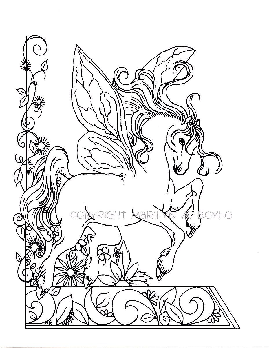 929x1200 Revisited Garden Fairy Coloring Pages Adult Coloring Page Fantasy