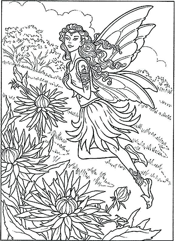 579x791 Evil Fairy Coloring Pages For Adults Vanda