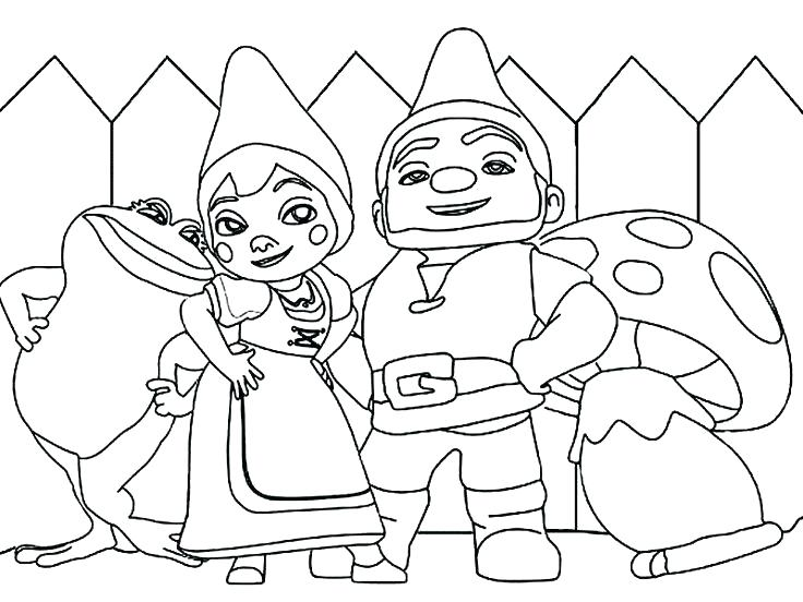 736x552 Garden Gnome Coloring Pages Garden Gnome Colouring Pages