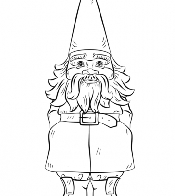 357x400 Garden Gnome Coloring Pages Garden Gnome Coloring Page Free