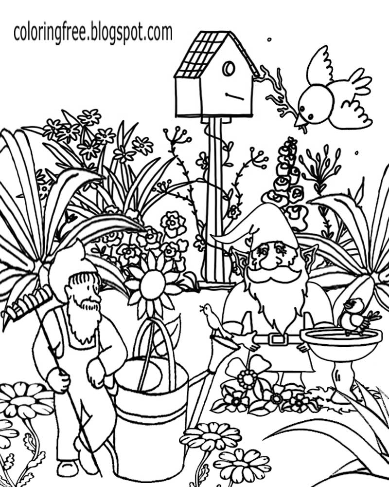 800x1000 Gnome Coloring Pages