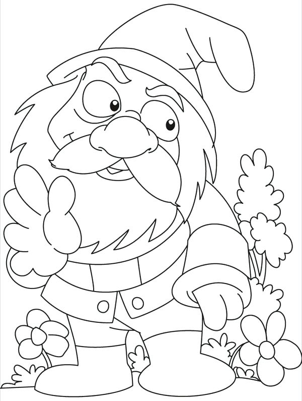 600x795 Gnome Coloring Pages Best Coloring Sheets Images On Adult Com