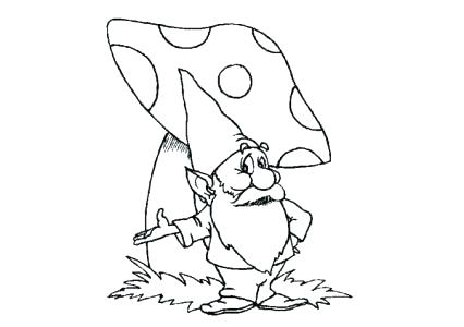 426x300 Gnome Coloring Pages Garden Gnome Coloring Pages Medium Size