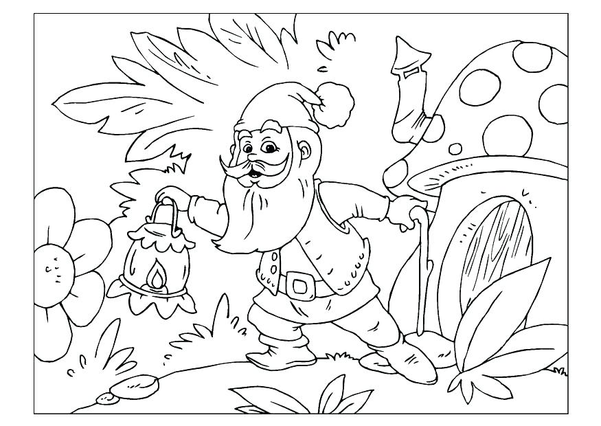 875x620 Gnome Coloring Pages Gnome Coloring Pages Coloring Pages Gnome