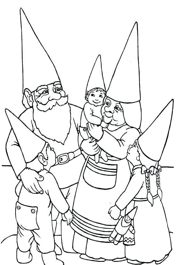 567x850 Gnome Coloring Pages Gnome Coloring Pages Fresh Gnome Coloring
