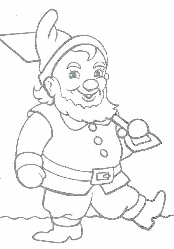 587x841 Gnome Coloring Pages Gnome Coloring Pages Gnome David The Gnome