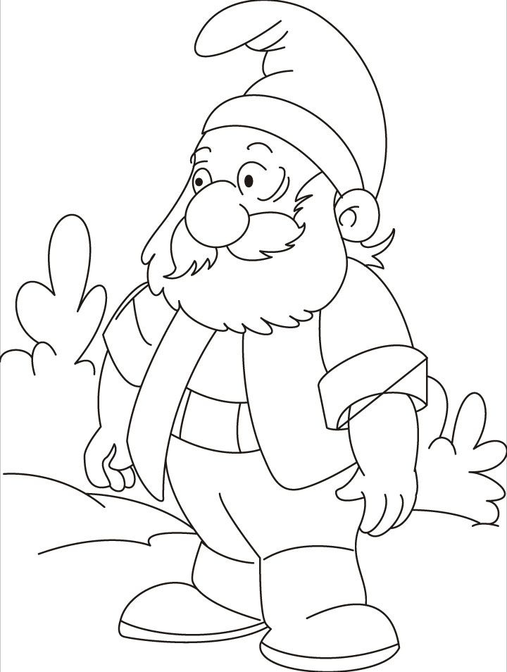720x954 Gnome Coloring Pages Luxury Gnome Coloring Pages Coloring Home