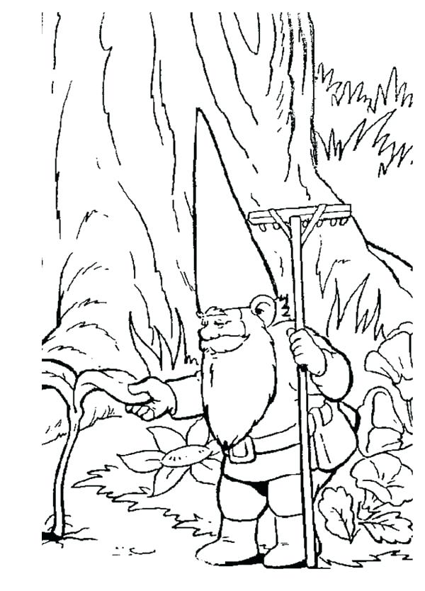 600x834 Garden Gnome Coloring Pages