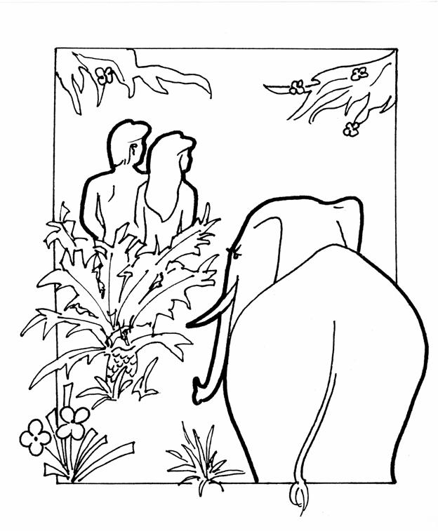 624x757 Adam And Eve Cast Out Of Garden Coloring Page