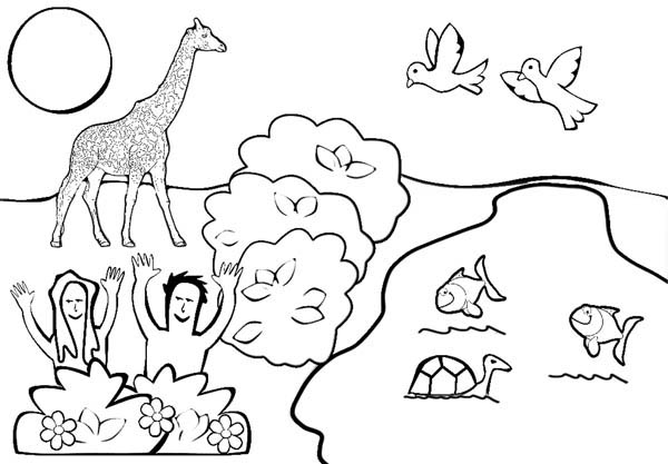 600x417 Depiction Of Garden Of Eden Coloring Page