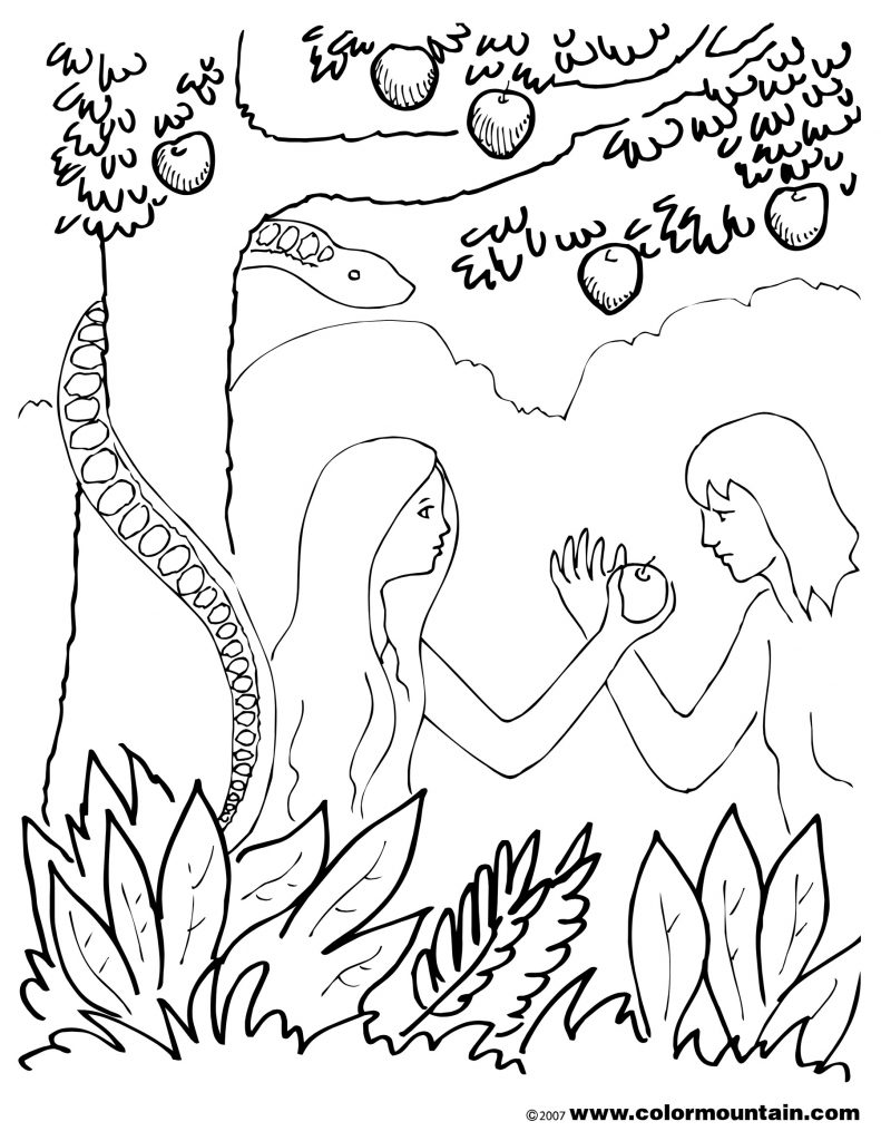 791x1024 Garden Of Eden Coloring Page