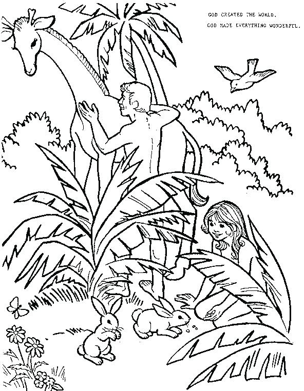 592x762 Garden Eden Coloring Pages Best And Eve In The Garden