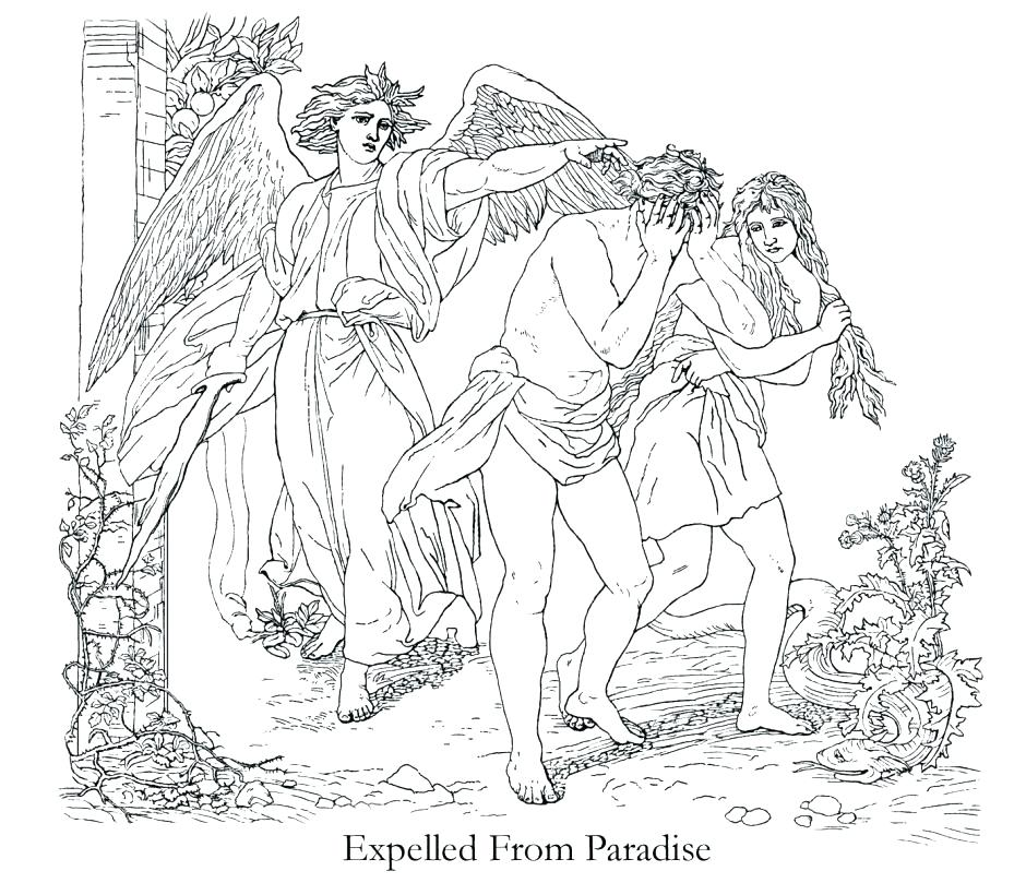 940x809 Garden Of Eden Coloring Pages Garden Of Coloring Bible Stories