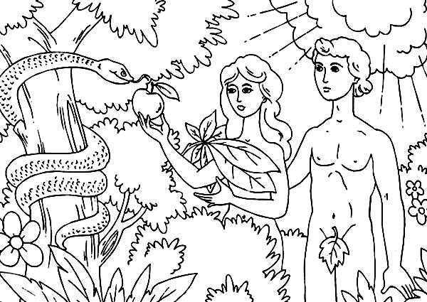 600x425 Garden Of Eden Coloring Pages The Garden Of Eden Coloring Pages