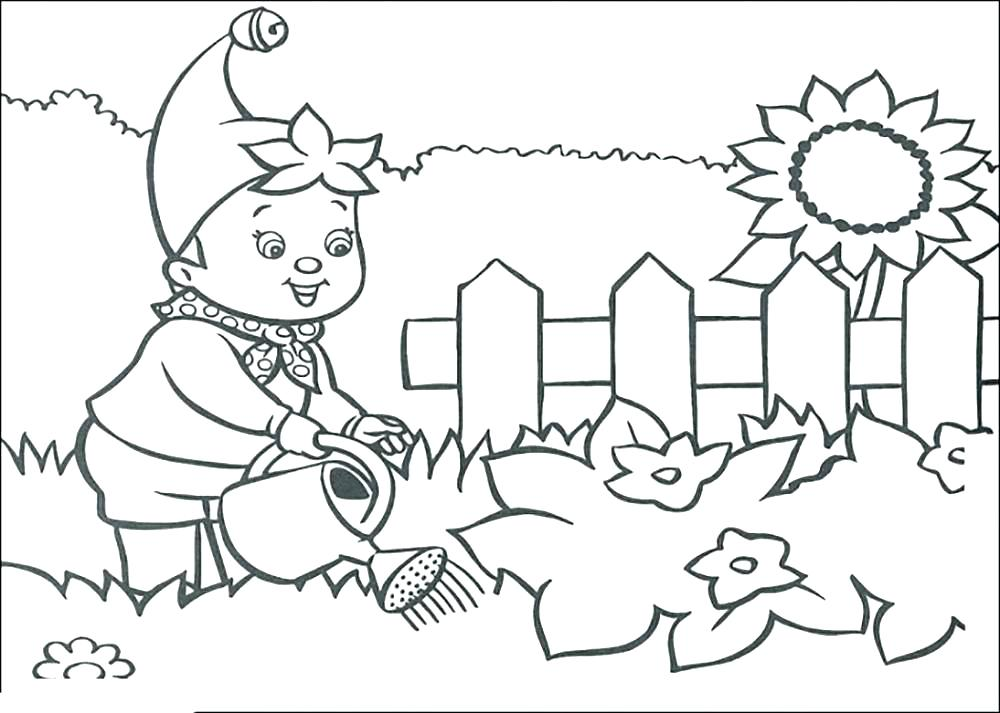 1000x713 Coloring Pages Garden