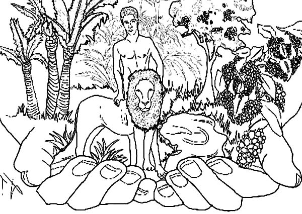 600x426 Adam And Eve In The Garden Of Eden Coloring Pages Color Bros