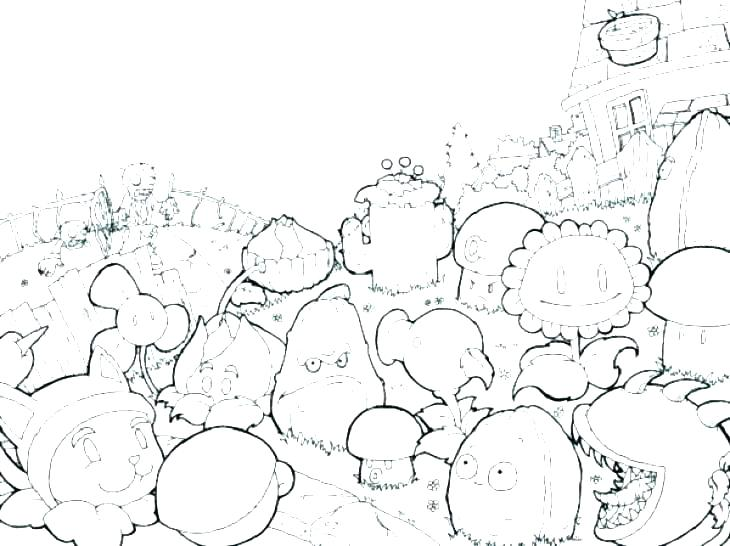 730x546 Plants Vs Zombies Coloring Pages To Print Plants Vs Zombies
