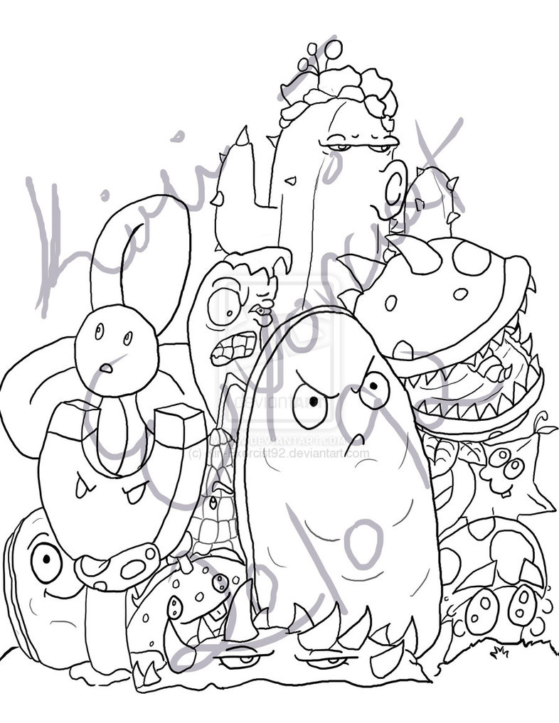 786x1017 Plants Vs Zombies Garden Warfare Coloring Pages