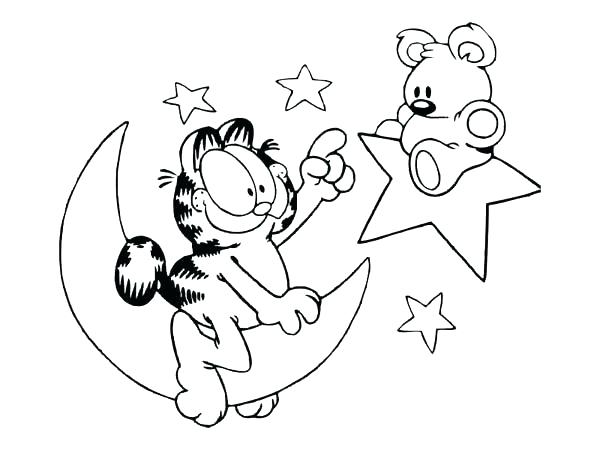 600x450 Garfield Coloring Page Coloring Sheets Printable Coloring Coloring