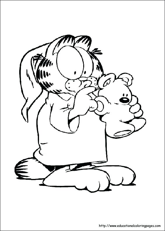 567x794 Garfield Coloring Pages Odie And Garfield Christmas Coloring Pages