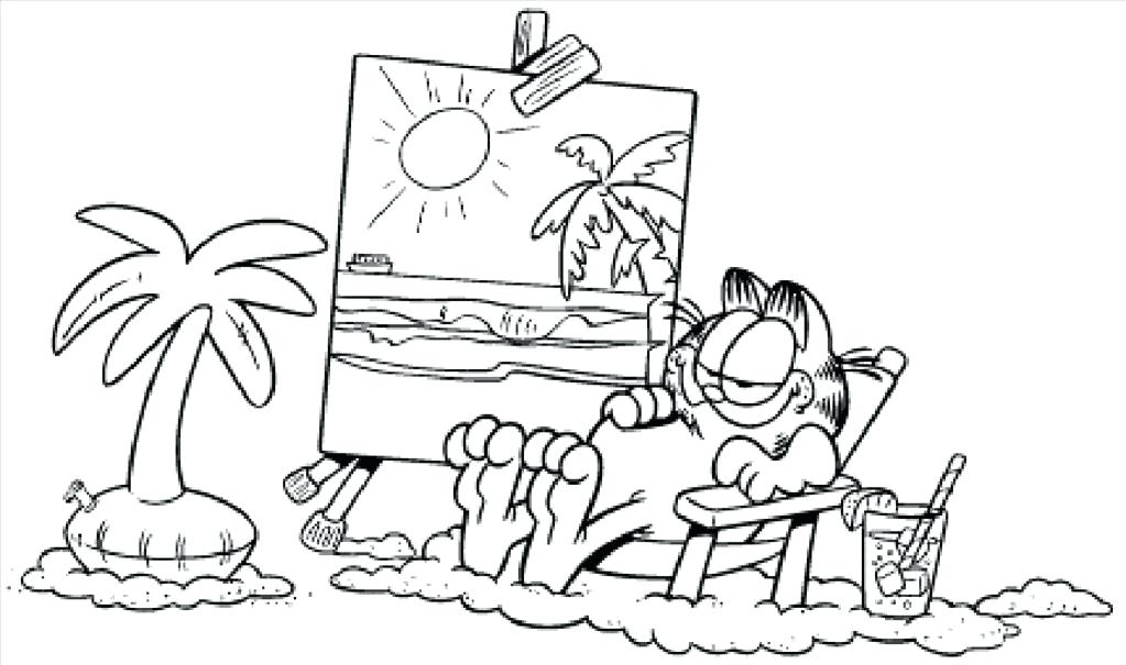 Garfield Coloring Pages At Getdrawings Com Free For Personal Use