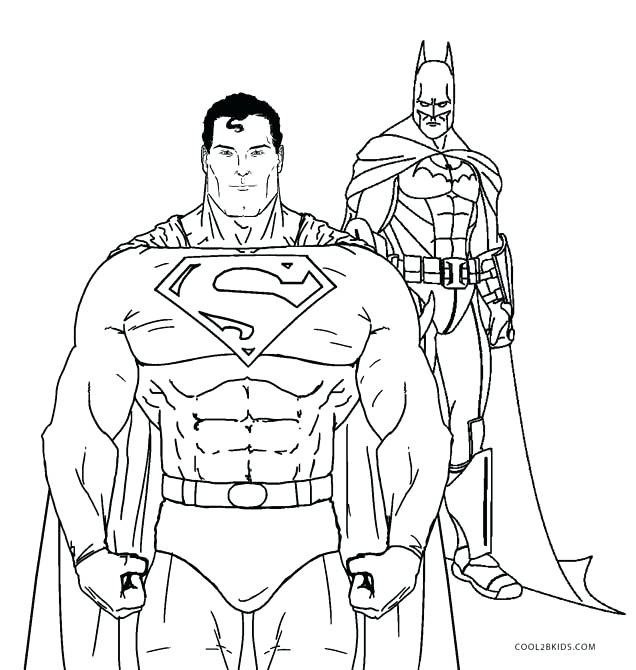 636x670 Awesome Batman And Superman Coloring Pages