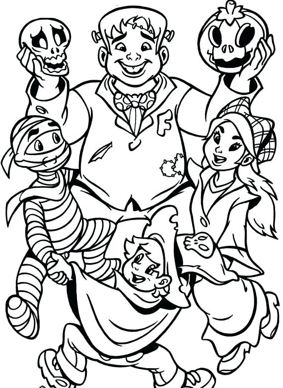 570x783 Halloween Monster Coloring Pages Monsters Coloring Pages Dangerous