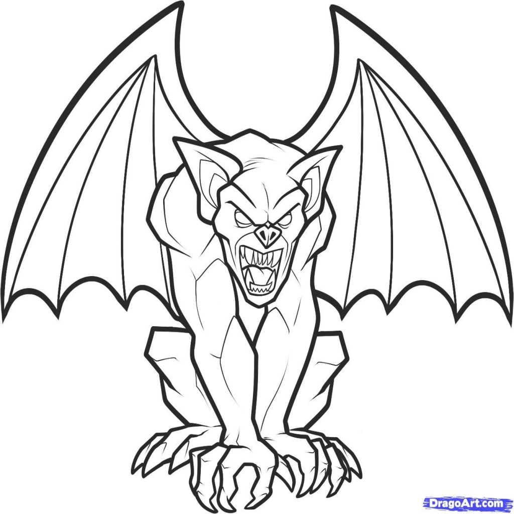 1024x1024 The Most Attractive Gargoyle Coloring