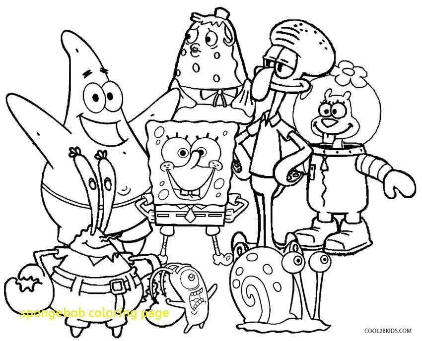 850x688 Spongebob Coloring Page With Spongebob And Gary Coloring Pages