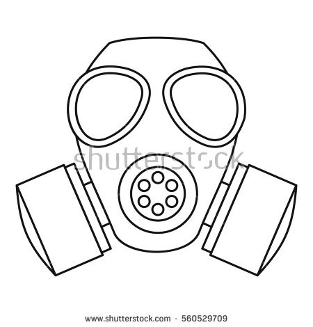 450x470 Cool Gas Mask Drawing