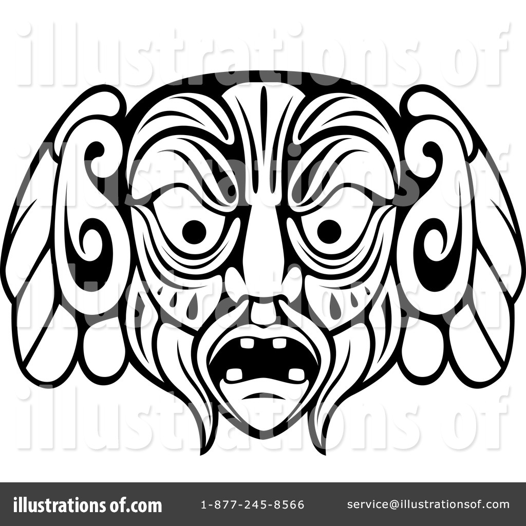 1024x1024 Janus Mask Coloring Page