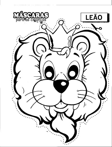 390x512 Lion Mask Coloring Pages