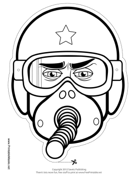 281x364 Male Fighter Pilot Mask To Color Printable Mask, Free To Download