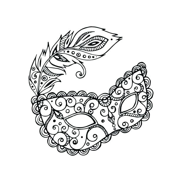 618x618 Mardi Gras Mask Coloring Pages Mask Coloring Pages Pin Drawn Masks