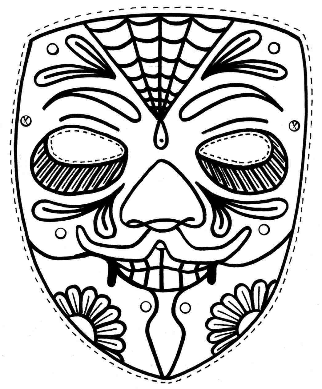 1046x1264 Stunning Sin Cara Mask Coloring Pages Web Pic Of Rey Mysterio
