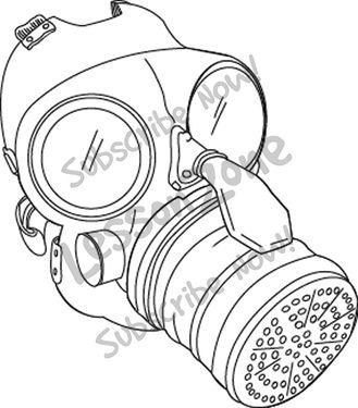 329x375 Gas Mask Clipart