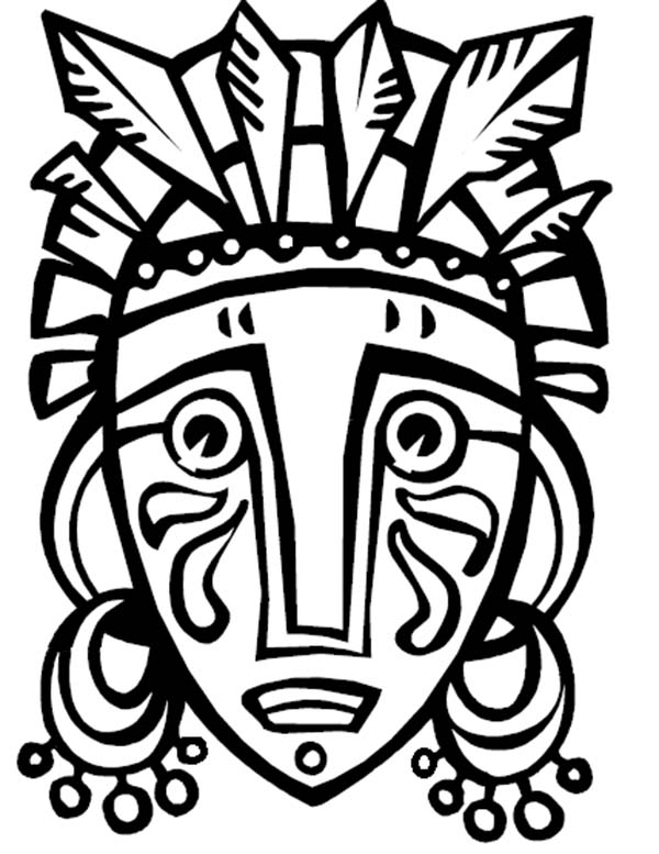 600x777 African Masks Coloring Sheets Colouring For Sweet Draw Photo