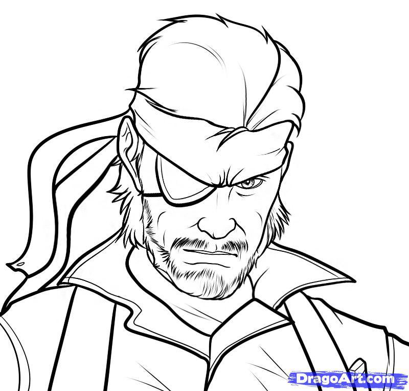 800x764 Snake Metal Gear Coloring Pages