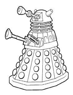 236x304 Doctor Who Coloring Page Enemies Geek Parenting