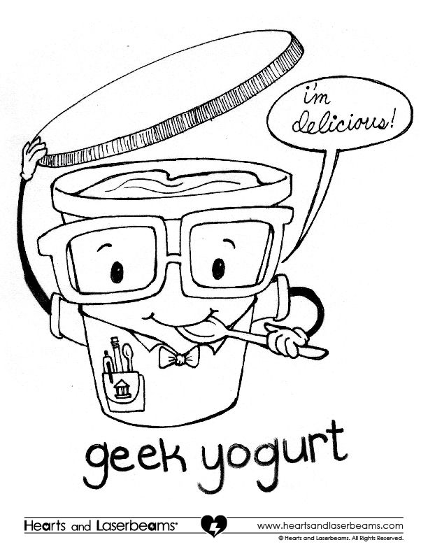 612x792 Enter The Geek Yogurt Coloring Contest Before March