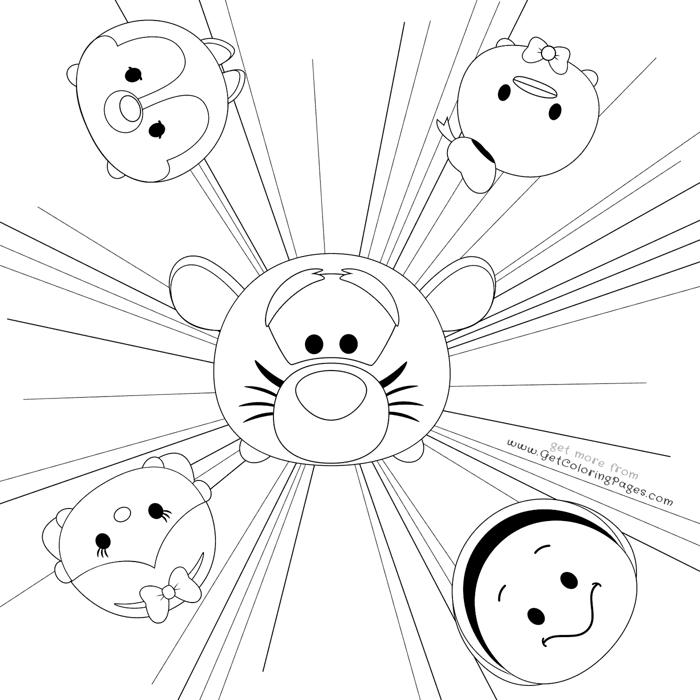 1400x1400 Strong Geek Coloring Pages Tsum Colouring Shee