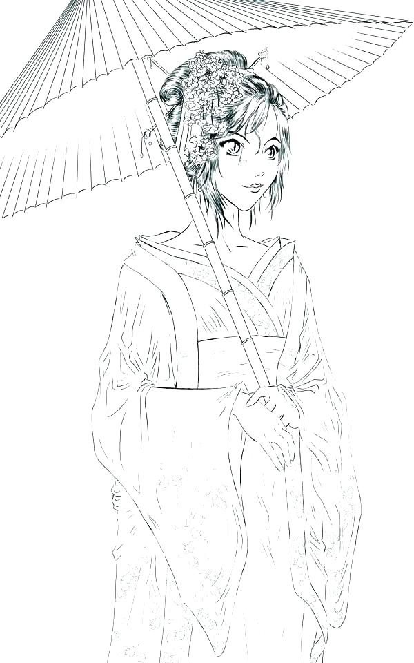600x960 Geisha Coloring Pages Geisha Coloring Pages Geisha Coloring Pages