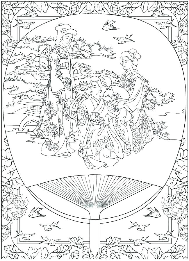 650x898 Geisha Coloring Pages Girl Geisha Coloring Page Geisha Girl