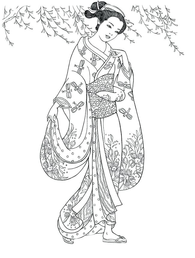 650x861 Geisha Coloring Pages Umbrella Coloring Pages Picture Printable