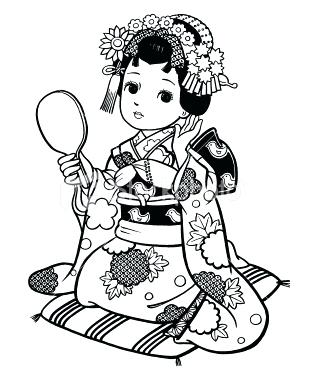 317x380 Beautiful Geisha Coloring Page Beautiful Geisha Coloring Page