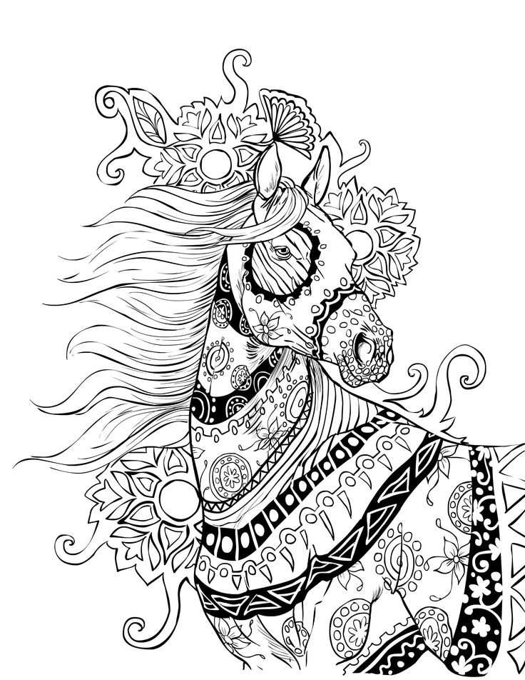 736x952 Gel Pen Coloring Pages Printable