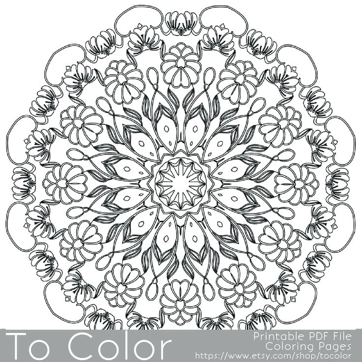 736x736 Intricate Design Coloring Pages Free Intricate Design Coloring