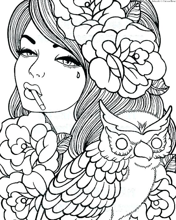 570x713 Pen Coloring Pages Female Coloring Pages Full Size Of Up Girl Pen